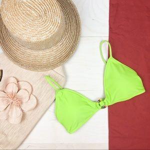 aerie Swim - NEW Aerie Traingle Bikini Top Lime Green
